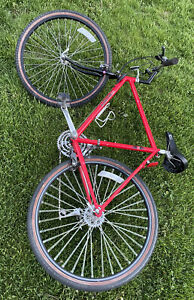 "Maruishi MT-450 Mountain bike (52 frame) very rare bike red color 26""tire"