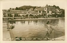A View Of Adele Lodge, St Adele en Haut, Quebec QC Canada RPPC