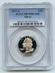 1997 S 25C Silver Washington Quarter Proof PCGS PR70DCAM