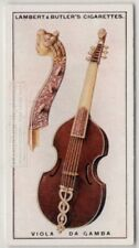 Viola De Gamba Bowed String Music Instrument 1920s Ad Trade Card
