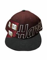 Vintage Harvard Veritas Adult Embroidered Spellout Maroon Snapback Hat Deadstock