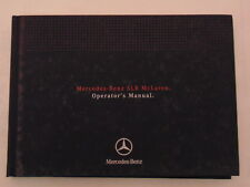 2007 Mercedes Benz SLR McLaren Owners Manual - New Old Stock - Discontinued