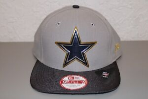 New Era Dallas Cowboys NFL Gold Trim Carbon Fiber Bill Hat One Size Fits