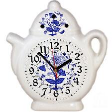 Wanduhr für die Küche - Küchenuhr Keramik Uhr in Landhausstil mit Zwiebelblumen