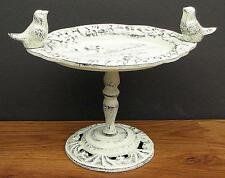 1/2 PRICE! Birds Cast Iron Birdbath CupCake Plate Rustic Shabby Cottage Chic