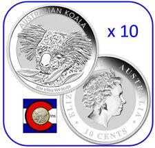 2014  Australia Koala 1/10 oz. Silver Coin in display card Perth Mint x10 coins