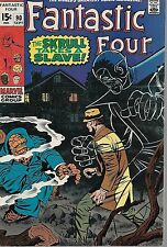 "MARVEL (1969) FANTASTIC FOUR #90 - ""The Skrull Take a Slave""  --  6.5 FN+"