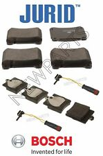 For Mercedes W203 C Class C230 C280 C320 Front and Rear Brake Pad Set & Sensors