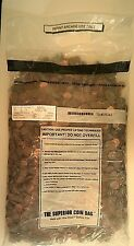 $50 Bank Bag of loose 1959-1981 U. S. Lincoln Memorial Pennies or copper cents