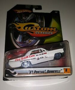 Hot Wheels Custom Classics 1968 Pontiac Bonneville Clay Smith Cams White Hotrod