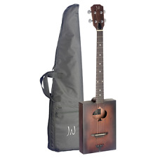 More details for j.n guitars cask series cigar box acoustic guitar - firkin