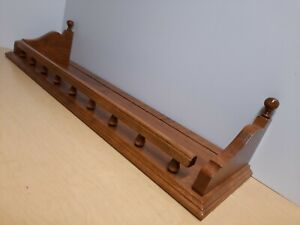 "Ethan Allen Heirloom Nutmeg Maple 30"" W Gallery Shelf Plate Groove 10-3804"