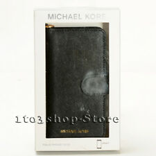 bea311f67107f9 Michael Kors iPhone 7 iPhone 8 Saffiano Leather Folio Case w/Card Pocket -  Black
