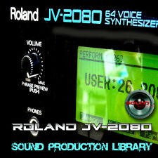 for Roland JV-2080 -unique original WAVE/Kontakt Multi-Layer Samples Library DVD