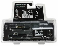 1:64 GreenLight *HITCH & TOW* THE GODFATHER 1972 C-10 Puickup Cadillac Trailer