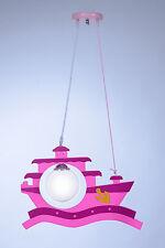 Kinderlampe Kinderleuchte  Deckenlampe Kinderzimmer Lampe Schiff Pink