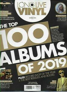 LONG LIVE VINYL ISSUE 34 JANUARY 2020 (TOP 100 ALBUMS OF 2019, ROBERT PLANT) NEW