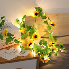 Artificial Sunflower Led String Light for Home Wedding Party Bedroom Decoration