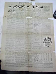 IL PENSIERO DI SANREMO 15 DIC 1918 SANTUARIO DI VEREZZO SOLO PRIMA PAGINA 1-60BI