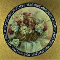 HYDRANGEAS Plate Lena Liu's Basket Bouquets Colorful Floral Blue W. S. George 12