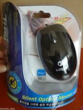 Tuscani HD-M324s USB Silent Quiet Anti-noise No Click Sound Optical Mouse Black