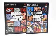 Grand Theft Auto: Vice City & GTA III (3) (Sony PlayStation 2, 2002) PS2 w/ map