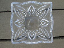 Vintage Pressed Glass Square Bowl - Scalloped Edge - Simple Elegance
