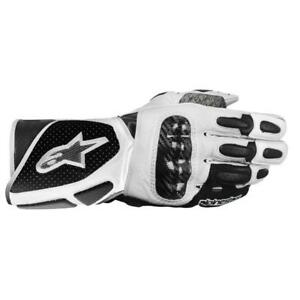 Alpinestars Stella Ladies SP-2 Motorcycle Motorbike Gloves - Black/White