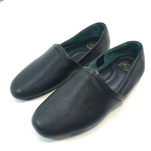 L.B. Evans Mens US Sz 8.5 M Slippers Aristocrat Opera Casual Black Leather 3026