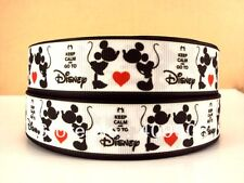 "Mickey and Minnie Mouse Ribbon 1"" Wide NEW UK SELLER FREE P&P"