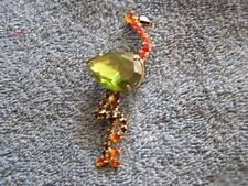 Vintage Rhinestone Ostrich Pin Beautiful