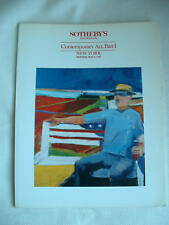 SOTHEBY'S AUCTION CATALOG Contemporary Art 05/2/88