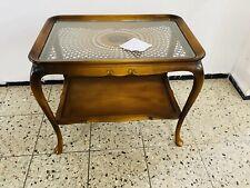 SERVIERWAGEN Chippendale FLORENTINER GEFLECHT GLAS BAROCK ORIGINAL Vintage Tisch