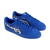 Puma Suede Classic X Pepsi Mens Blue Suede Low Top Lace Up Sneakers Shoes
