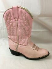 Durango Kid Boots Western Cowboy Girls 12.5 Youth Pink Leather Bt568 Usa Cowgirl