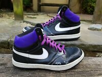 Rare Nike Court Force High Vintage Purple Trainer Size 10 9P6 2009