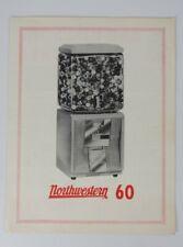 Northwestern Model 60 Gumball / Peanut Vending Machine Advertising Flyer