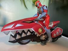 Power Rangers Dino Thunder Red Raptor Cycle With Ranger