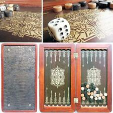 Orion Portable Travel Luxury Backgammon Set Leather Pieces Tournament Board Game