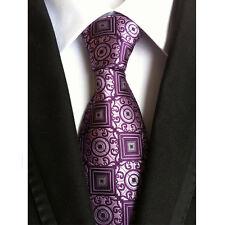 Men's Checks Dots Geometric Tie JACQUARD WOVEN Necktie Wedding Party Ties HZ203
