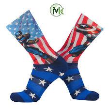 Marvel® Captain America USA Stars and Stripes Elite Crew Socks Large NEW