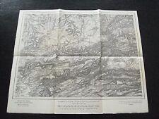 alte Landkarte Karte des Deutschen Reiches Nr.668 Pfirt von 1908