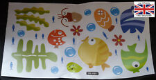 Bath and Shower Room Cartoon Fish Wall Decal Stickers-UK STOCK-FREE P&P