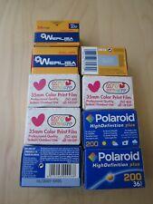 9x 35mm film rolls color Polaroid 200 Werlisa 100 MyHeart film Agfa Fuji Kodak