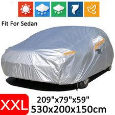 XXL Full Car Cover Waterproof UV Dust Scratch Rain Resistant Outdoor For Sedan