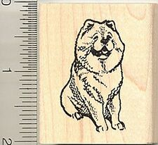 Chow Chow Dog Sitting rubber stamp E9310 WM