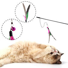 Playing Teaser Pet Accessories Teasing Cat Funny Wand Nature Feather pet toys