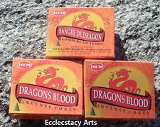 Hem Dragon's Blood Incense 3 x 10 Cone, 30 Cones (Dragons Blood) NEW {:-)