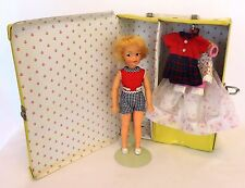 Vintage 1960's IDEAL Tammy Family  PEPPER Doll Lot w/Case, Outfits Shoes Hangers