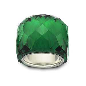 NEW RARE COLLECTOR'S SWAROVSKI NIRVANA RING EMERALD GREEN CRYSTAL SIZE 6, 52